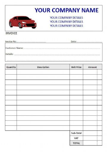 Mechanics NCR Invoice Pads & Sets, 4 Column Lined + VAT Box (1)